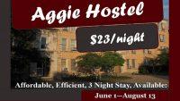 Aggie Hostel Announcement Header