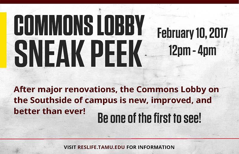 Commons Sneak Peek Announcement Header