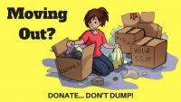 Donate - Don't Dump! Announcement Header