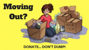 Donate - Don't Dump! Announcement Header