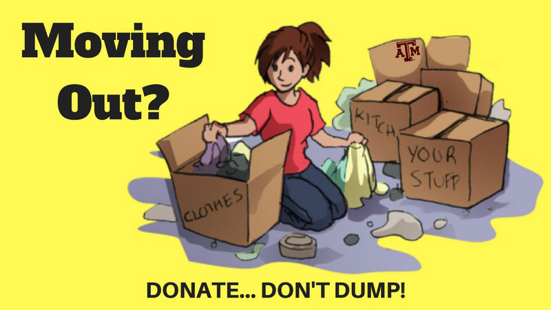 Moving Out? Donate, Don't Dump!