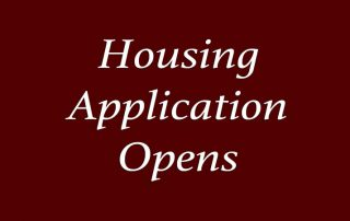 Housing Application Opens September 19, 2019 for Residence Halls, Corps Housing, & White Creek Apartments