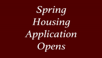 Spring Housing Application Opens October 1, 2019 for Residence Halls, Corps Housing, & White Creek Apartments
