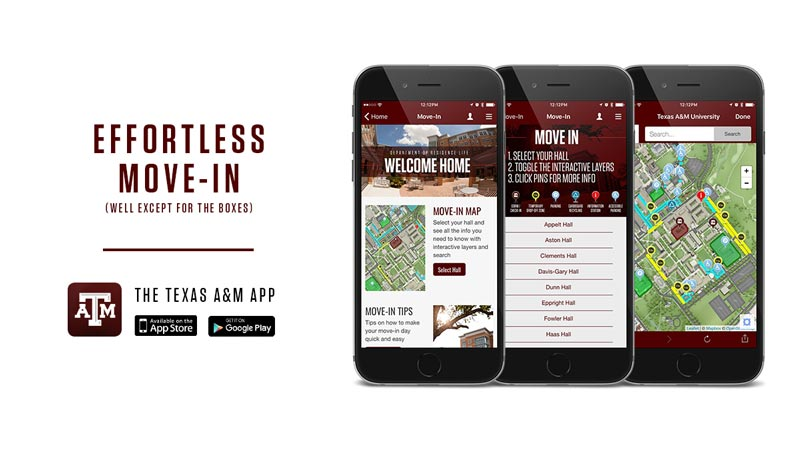 TAMU Mobile App for Effortless Move-In!