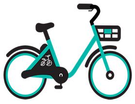 Above: Cartoon image of a VeoRide bike