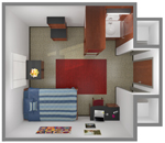 Davis-Gary Single Room Floor Plan