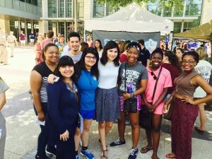 Freshmen Century Scholars attend MSC Open House with their mentor.