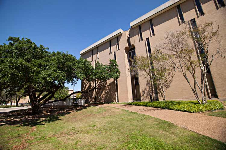 Dunn Hall exterior with trees