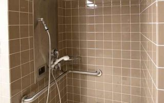 Corps Hall Community Bathroom Accessible Shower Stall