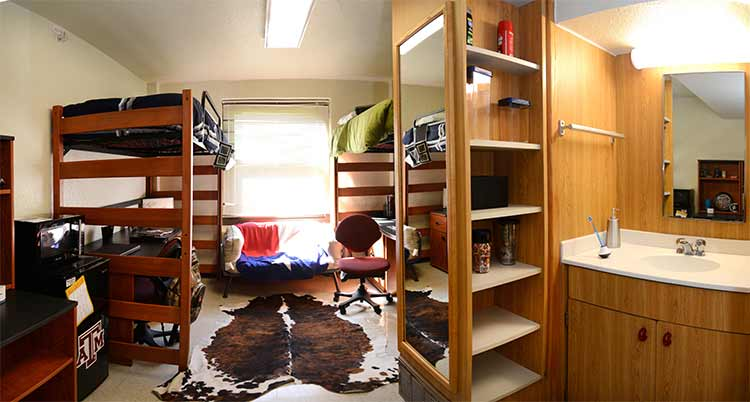 Moses Hall room with student belongings