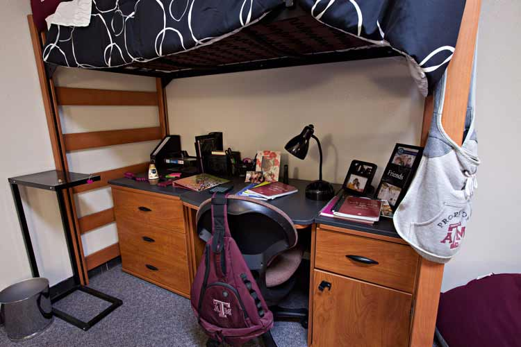 Appelt student desk under lofted bed