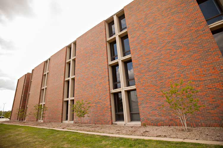 Clements Hall exterior length
