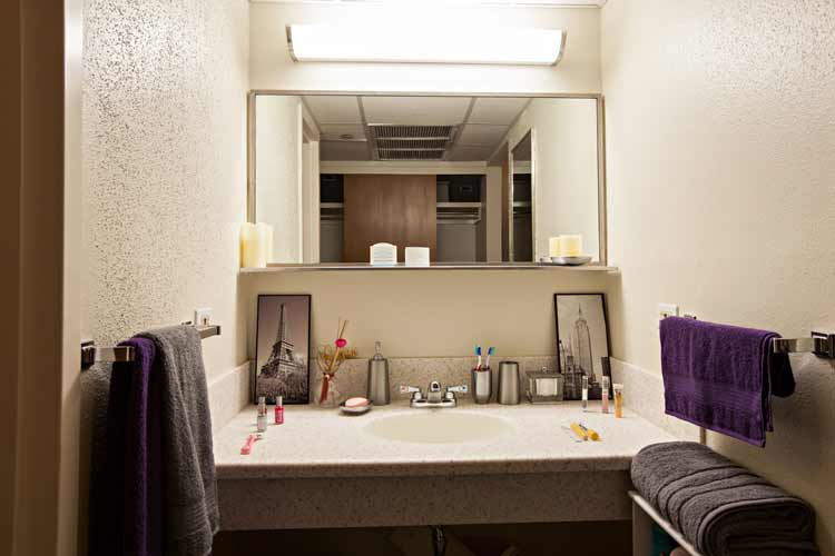 Modular Style Residence Hall Bathroom