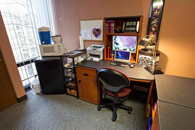 Neeley Hall student desk