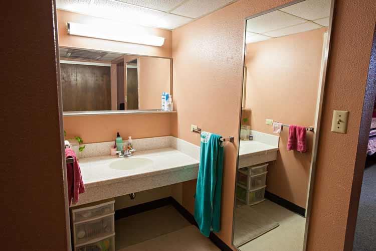 Neeley Hall bathroom vanity