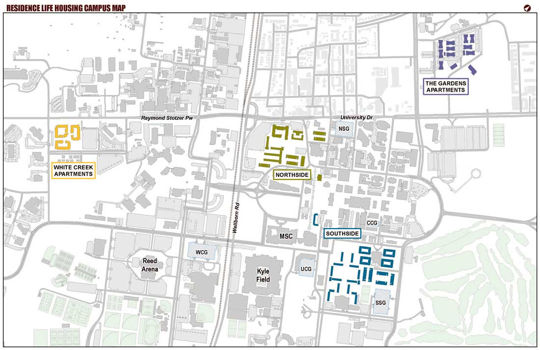 Residence Life Housing Campus Map
