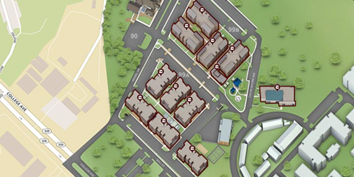 Map of Gardens Apartments