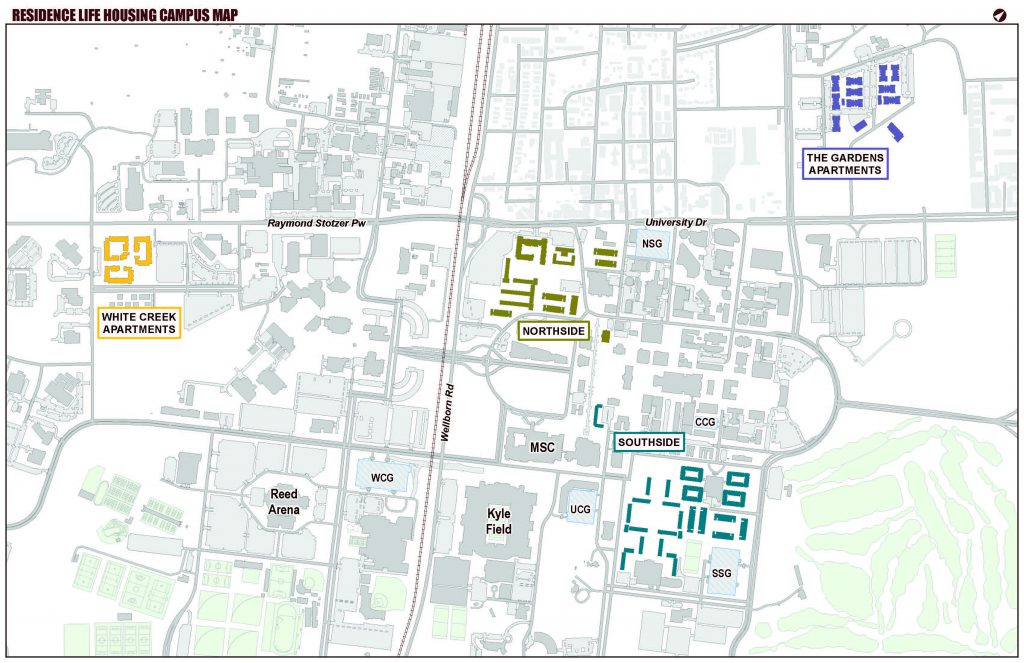Residence Life Housing Campus Map