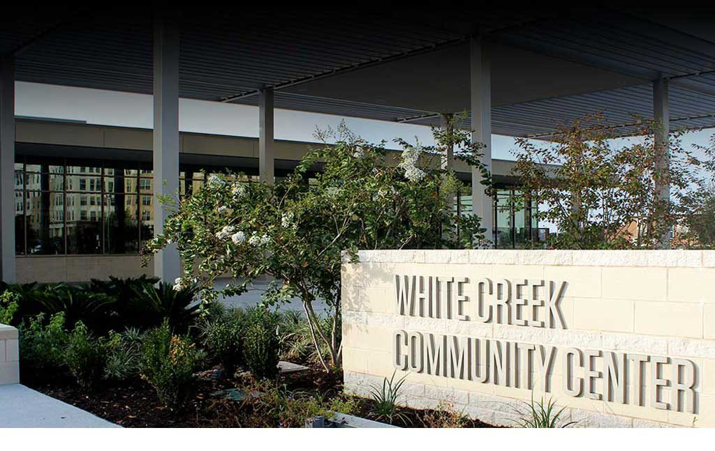 Photo of the Exterior of the White Creek Community Center