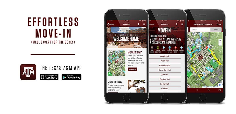 TAMU Mobile App for Effortless Move-In!