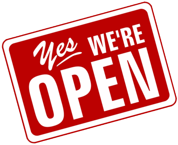 Yes, We're Open!