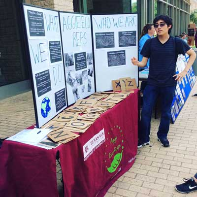 Aggie Eco Reps Booth on Sustainability Day