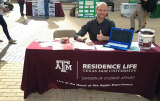 Residence Life booth at Campus Sustainability Day
