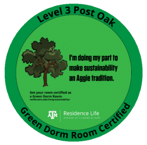 Green Dorm Room Certified - Level 3 Sapling
