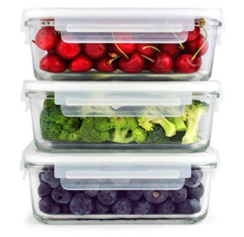 An example of glass food storage containers.