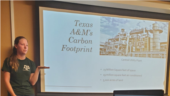 Texas A&M's carbon footprint in Eppright Hall